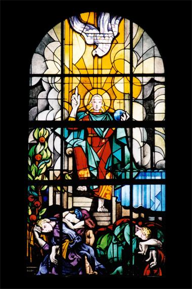 floriano bodini vetrata seconda venuta di cristo lino reduzzi studio reduzzi