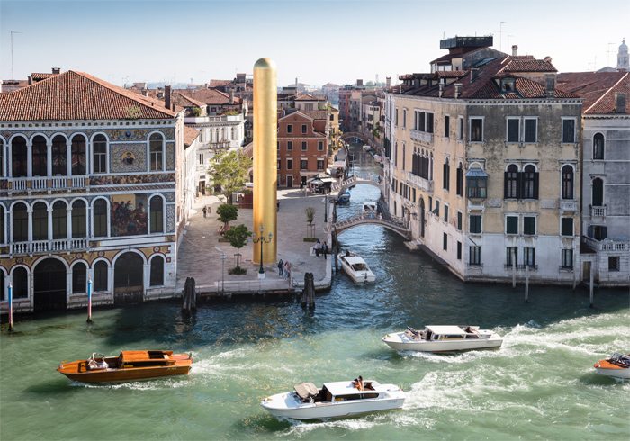 dorature oro zecchino 24 kt. the golden tower james lee byars biennale venezia lino reduzzi studio reduzzi michael werner gallery new york