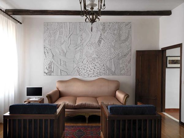 tullio pericoli graffito a fresco lino reduzzi studio reduzzi case cavallini sgarbi ferrara
