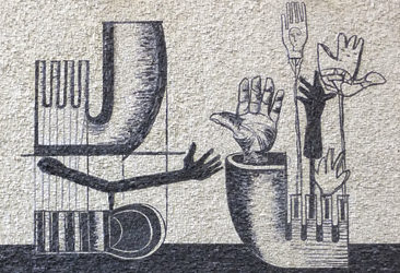 mario botta lino reduzzi studio reduzzi vaso 8 mosaico